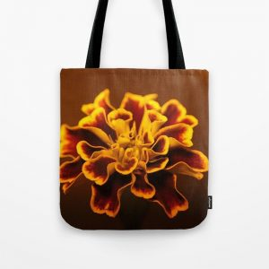 Marigold Flower Tote Bag