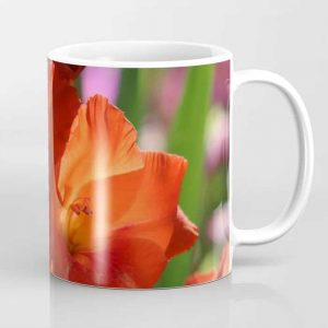 Colorful Orange Glad Flowers Coffee Mug